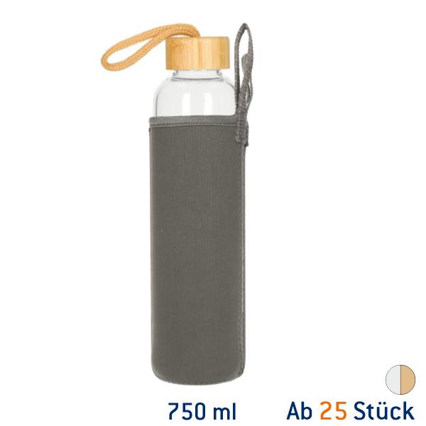 Glasflasche Bamboo 750 ml