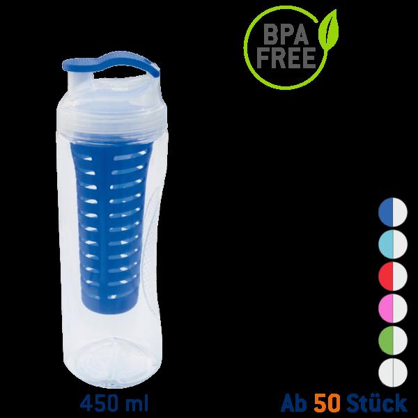 Vitality 450 ml Tritan Trinkflasche Transparent mit Fruchteinsatz