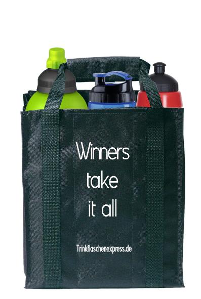 Flaschentasche schwarz für 6 Trinkflaschen
